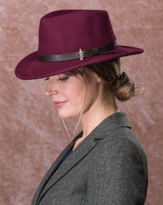 Jack Murphy Boston Hat - Burgundy