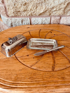 Lamb Butter Dish and Knife