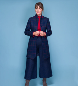 Enya Tweed Coulettes - Navy