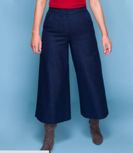 Load image into Gallery viewer, Enya Tweed Coulettes - Navy