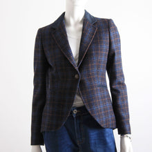 Load image into Gallery viewer, Bariloche Navy Check Button Jacket