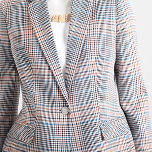 Bariloche Checked Long Line Jacket