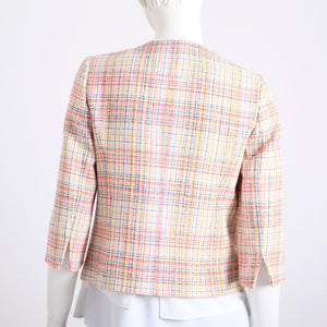 Bariloche Cream and Coral Three-Quarter Sleeve Jacket