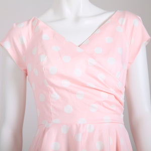 The Pretty Dress Company Hourglass Polka Dot Swing Dress - Pink