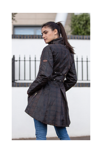 Welligogs Deluxe Louise Check Wax Coat