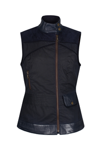 Welligogs Roxy Navy Wax Gilet