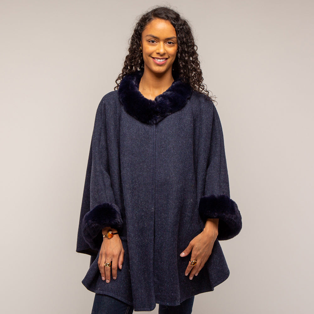 Tilly and Grace Anneka Cape - Navy