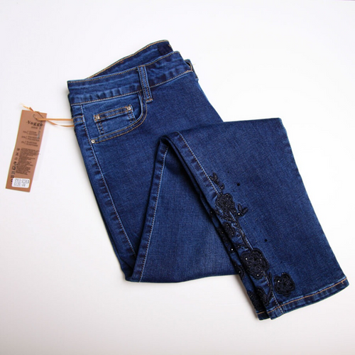 Voggo Blue Denim Detailed Jeans