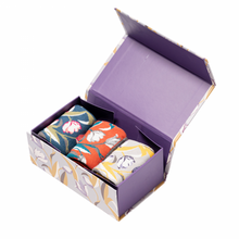 Load image into Gallery viewer, Miss Sparrow Tulips Socks Box