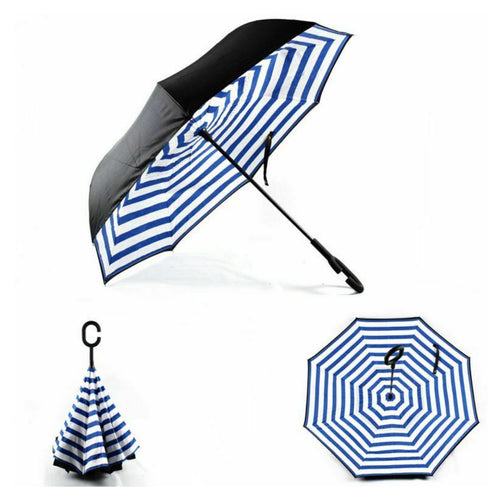Superbia Upside Down Print Umbrella - Various