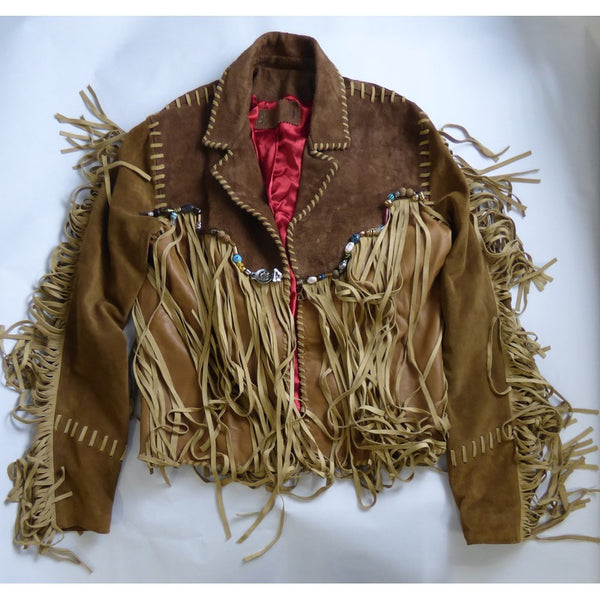 Brown Leather Fringe Jacket