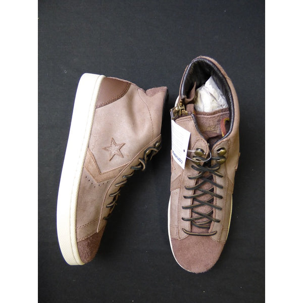 Brown Leather Converse One Star High Tops