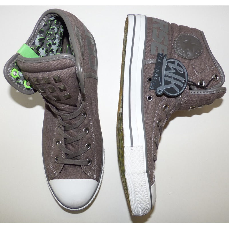 WK Grey Converse Chuck Taylor All Star High Tops | SNEAKERS | The Wiz Vault