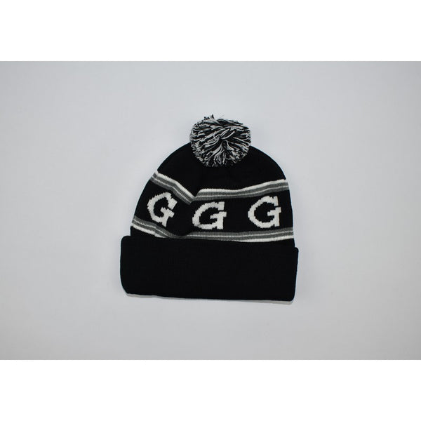 Black and Gray Guess Beanie