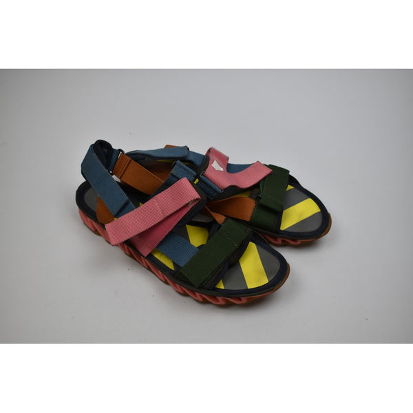 Multicolored Velcroed Sandals