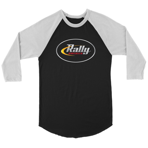 Rally America Logo - Three-Quarter Raglan