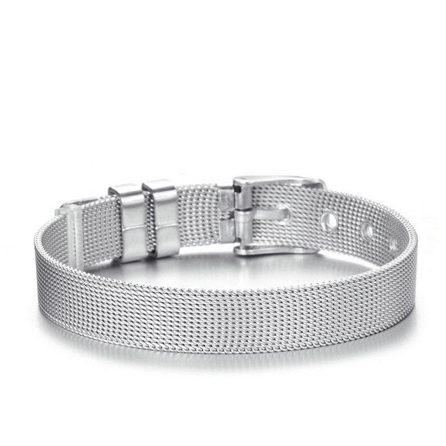 4ed7c5e347522 Stainless Steel Mesh Charm Bracelet for Woman With Rose Gold Silver Color