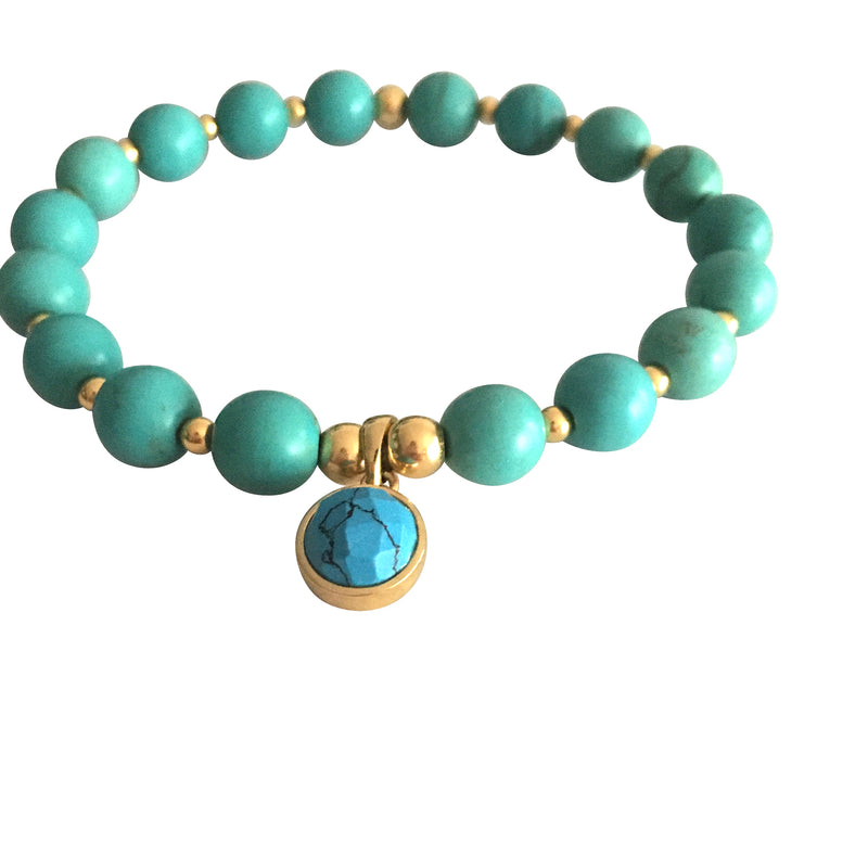 Turquoise Third Eye Chakra Bracelet (Communication)