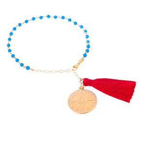 Turquoise Throat Chakra Friendship Bracelet (Communication)