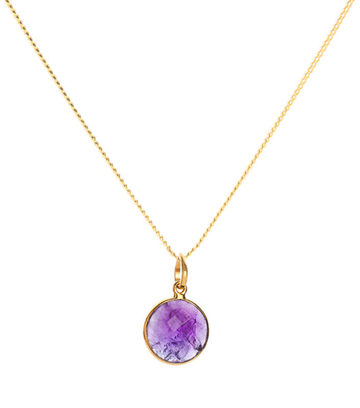 Amethyst 18-karat Gold Vermeil Crown Chakra Pendant Necklace