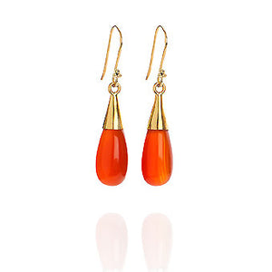 Carnelian 18-karat Gold Vermeil Sacral Chakra Earrings