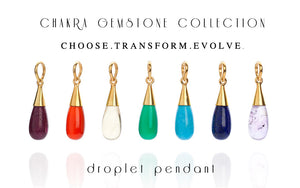 Turquoise 18 Kt Gold Vermeil Throat Chakra Droplet Pendant Necklace