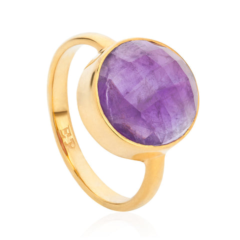 Amethyst 18-karat Gold Vermeil Crown Chakra Ring