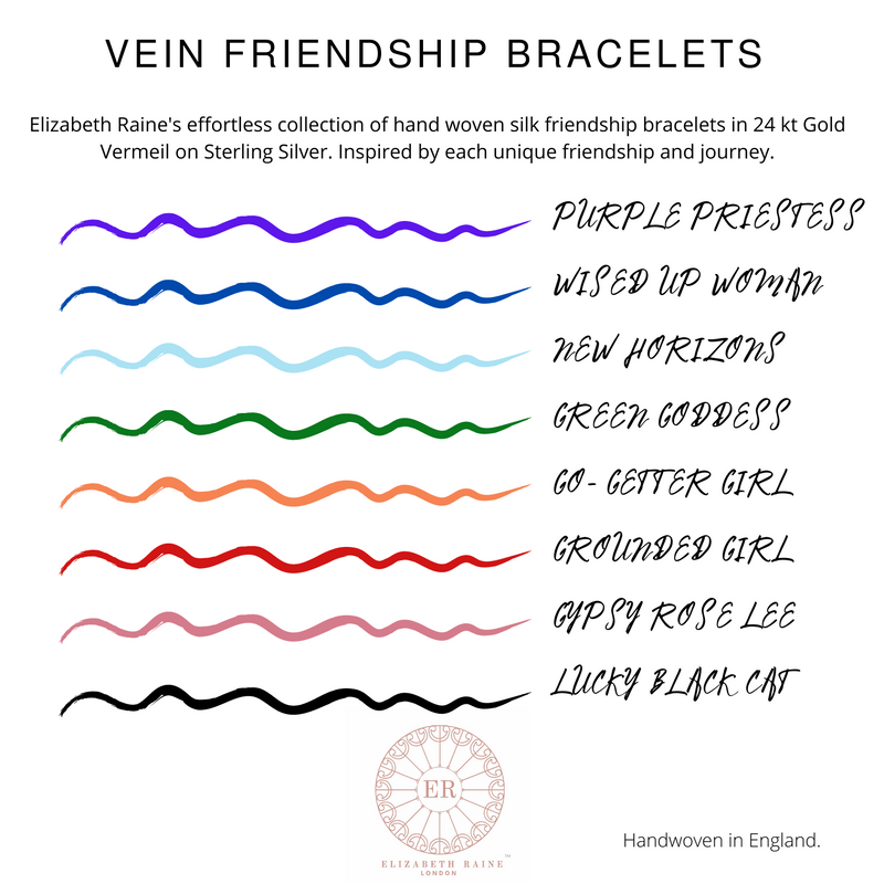 Purple Priestess Vein Friendship Bracelet