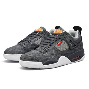 Men/'s Air Cushion Basketball Shoes Sports Sneakers High Top Athletic Breathable