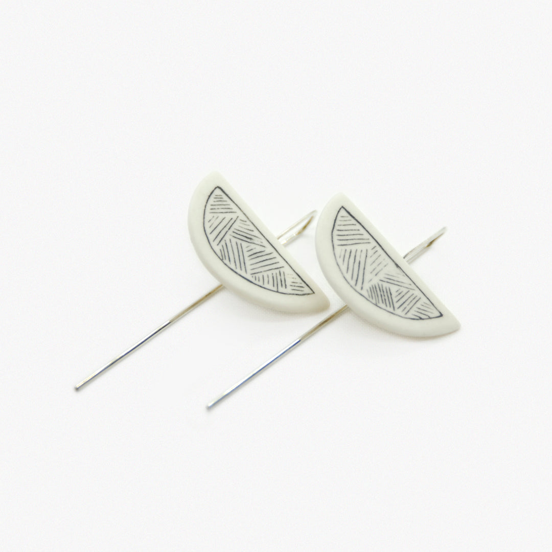 Etched Half-moon Pins