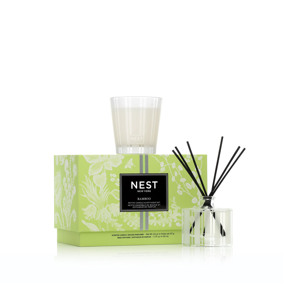 Bamboo Petite Candle & Diffuser Set