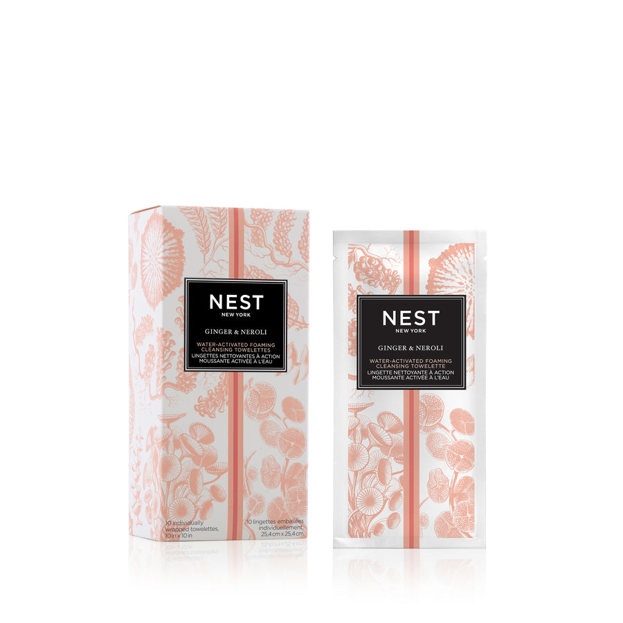 Ginger & Neroli Water-Activated Foaming Cleansing Towelettes