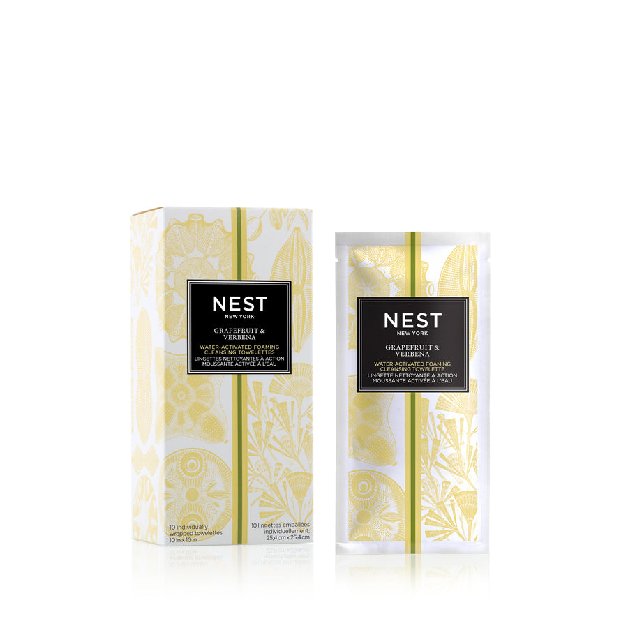 Grapefruit & Verbena Water-Activated Foaming Cleansing Towelettes