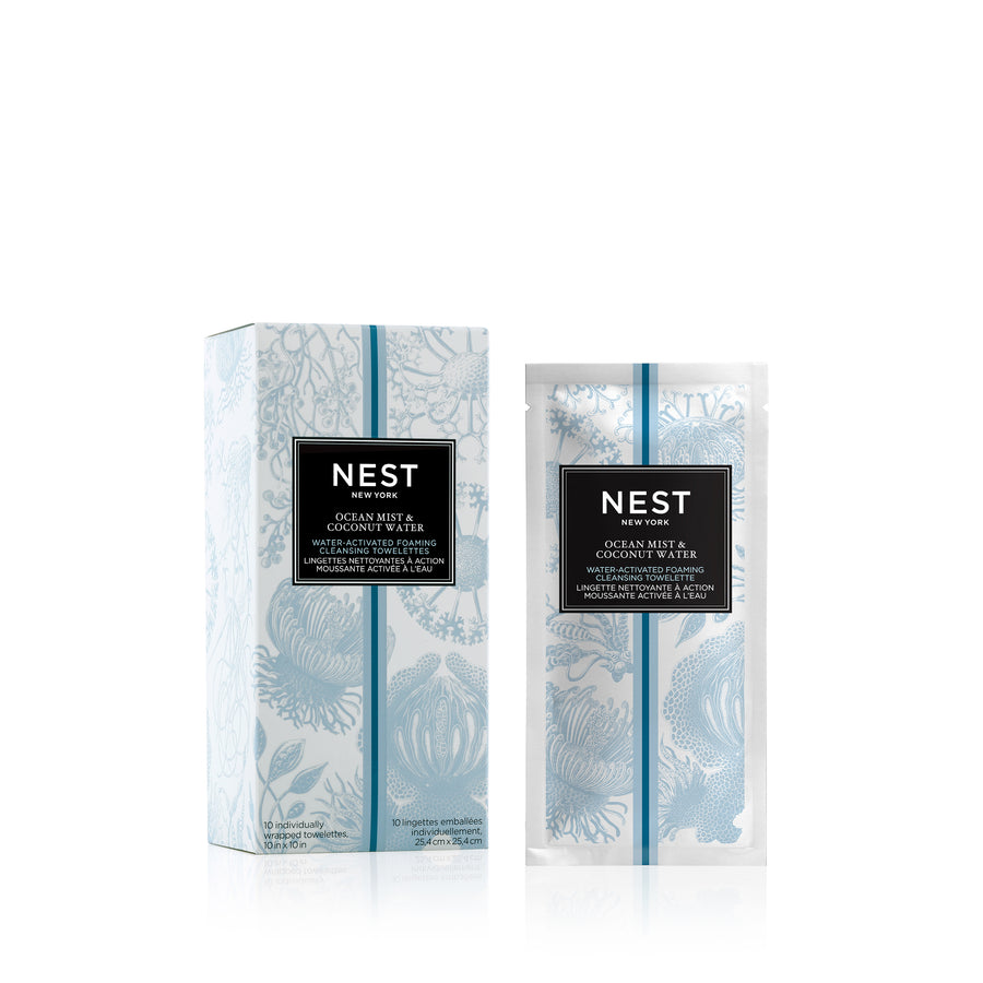 Ocean Mist & Coconut Water Water-Activated Foaming Cleansing Towelettes