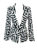 Black and White Maze Print Suit