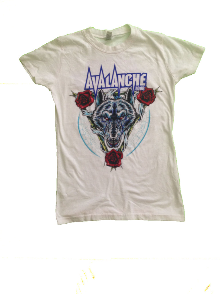 Avalanche Tour 2012 Women's White Tee