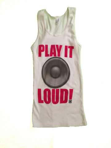 Identity Fest Play It Loud White Tank Top