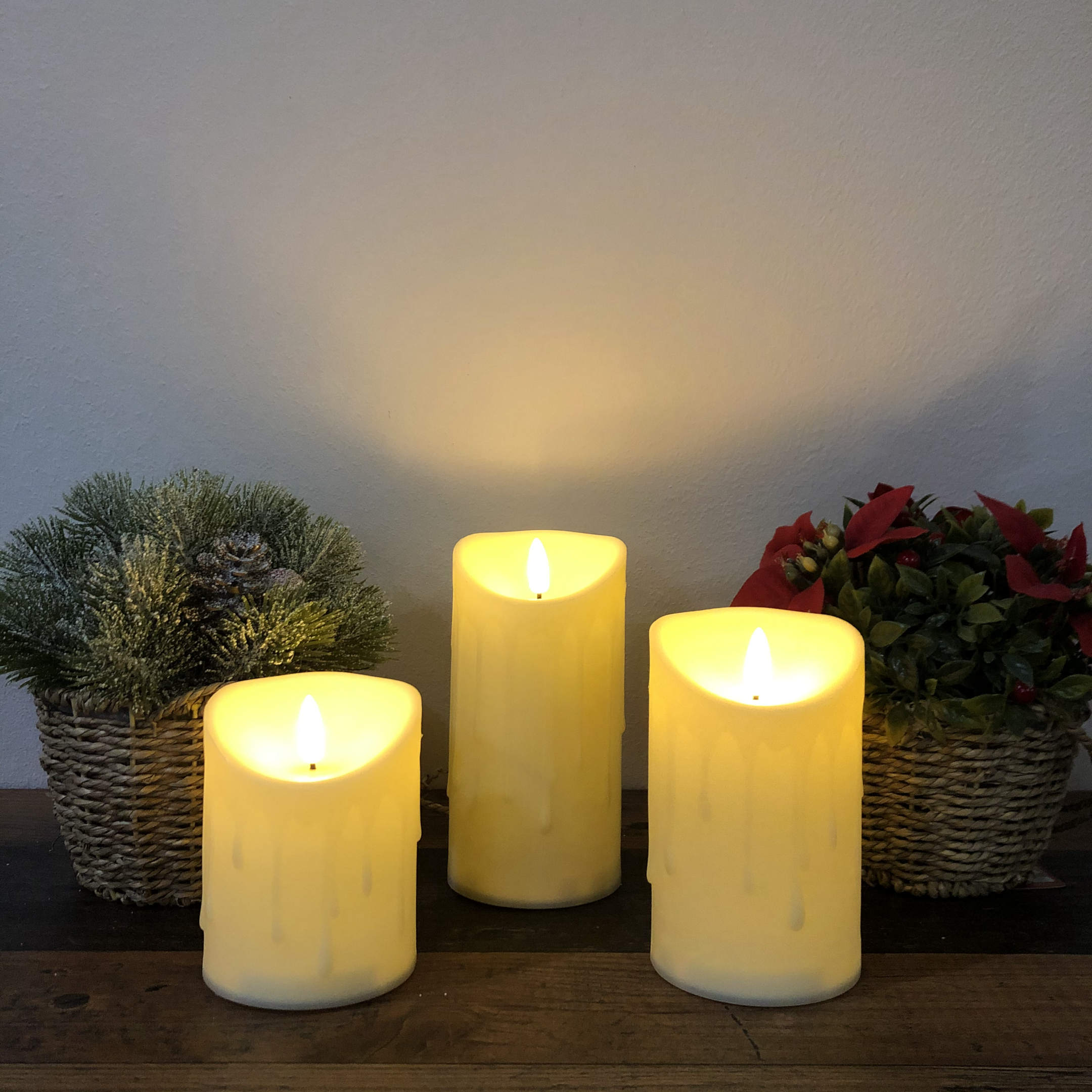 Flickabright Candles # plastové LED sviečky sada 3ks