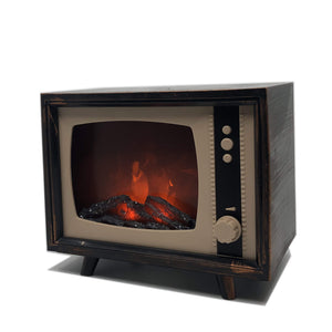 Retro TV Fire # lampa s efektom ohňa