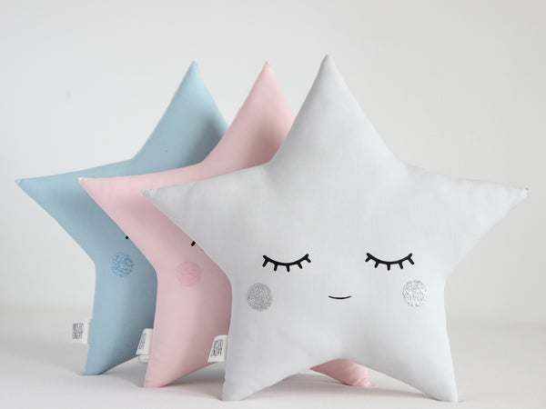 star baby cushion, nursery decor pillow