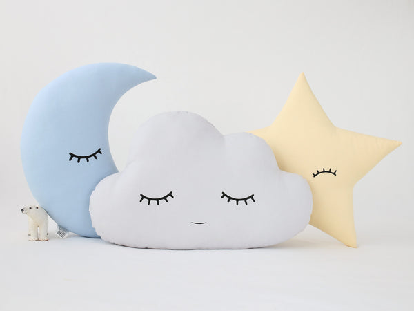Set Of 3 - Cloud, Moon And Star Pillows