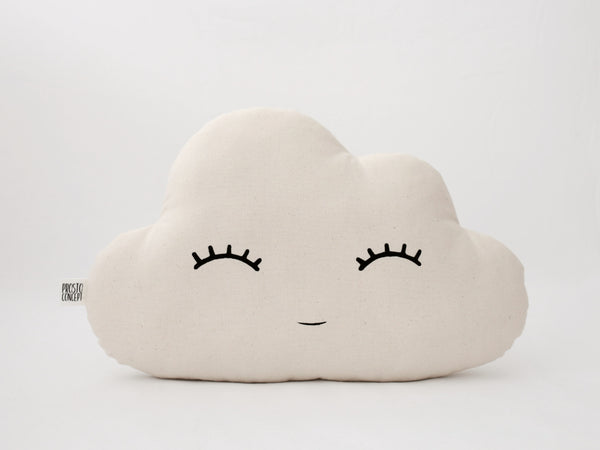Beige Cloud Pillow, Natural Cloud Cushion, Neutral Gender Nursery Decor, Kids Throw Pillow, Children Room Decor Ideas