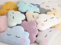 Cloud Cushion Cloud Nursery Pillow, Neutral Gender Kids Pillow Children Room Decor Baby Shower Gift Cloud Shaped Cushion
