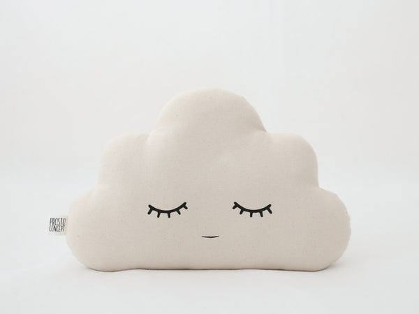 Ivory Cloud Baby Pillow Cloud Cushion Neutral Gender Nursery Pillow Natural Beige Kid Cloud Shaped Throw Pillow Children Room Decor Ideas