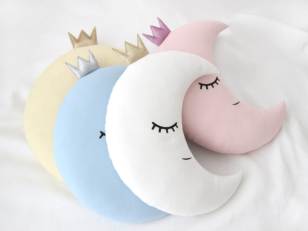 Crescent Moon Cushion With A Crown