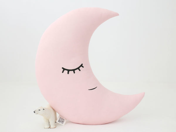 Moon Pillow Baby girl nursery decor moon cushion baby girl room decor pink nursery gold nursery kids pillows baby girl shower gift ideas
