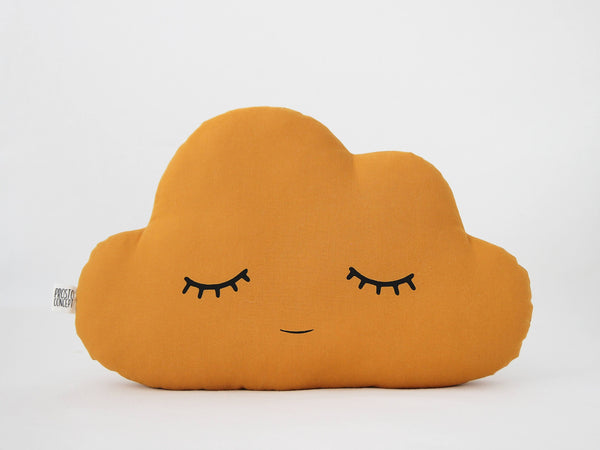 Mustard Cloud Cushion