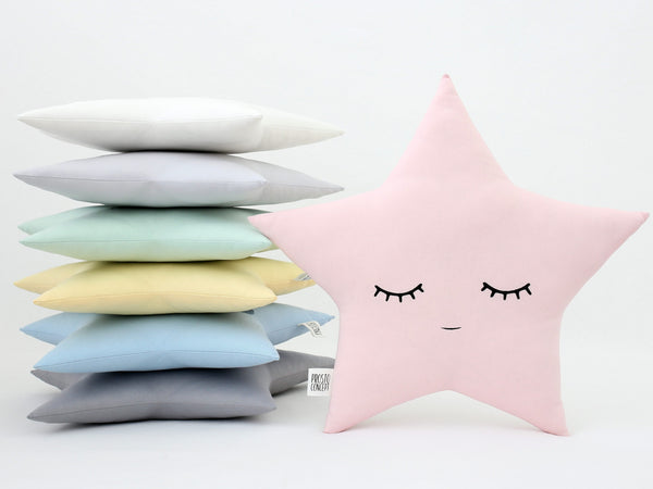 Star pillow Star cushion Star nursery decor baby girl nursery baby boy nursery kids pillows baby room new baby unique gift mint throw pillow