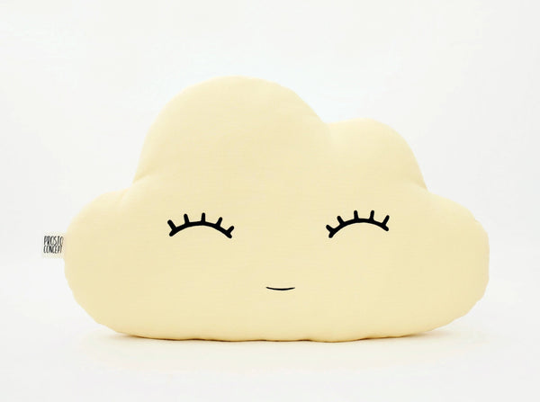 Yellow Cloud Pillow, Cloud Cushion, nursery decor, kids pillows, baby shower unique gift, name pillow, cloud stuffed toy, baby boy baby girl room