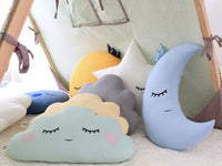 Pastel Yellow Cloud Cushion